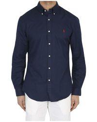 Ralph Lauren Slim Fit Shirt - Blauw