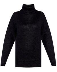 N°21 Long Sleeve Turtleneck Sweater - Zwart