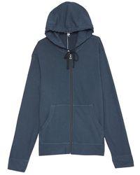 James Perse Vintage Zipped Hoodie Main - Bleu