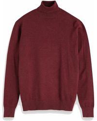 Scotch & Soda Classic Turtleneck Pull 152864 0780 - Rood