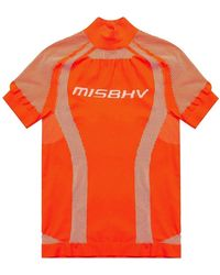 MISBHV 'sport Active Classic' T-shirt With Logo - Oranje