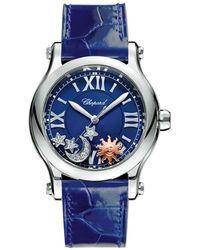 Chopard Happy Sport Sun, Moon AND Stars Watch - Bleu