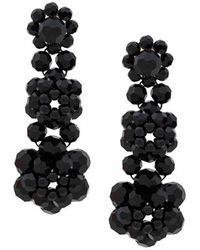 Simone Rocha Crystal Beaded Drop Earrings - Zwart