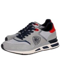 Blauer Sneakers - Grau