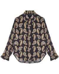 Garçons Infideles Paisley Print Shirt Cashmere - Zwart