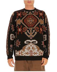 Herno Geometric knit jumper - Noir