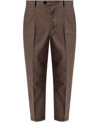 AllSaints Tallis pleat-front trousers - Vert