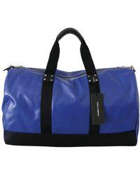 Dolce & Gabbana Schouder Sling Reistasage Katoenen Tas - Blauw