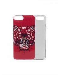 KENZO Iphone 8 Plus Case With Tiger Logo - Rood