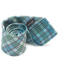 Kiton Bicolored Tie - Groen