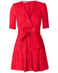 Stella McCartney Jacquard Silk Playsuit - Rood