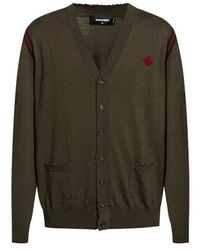DSquared² Cardigan With Buttons - Groen