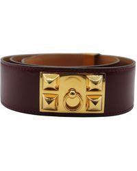 Hermès Cintura Medor - Rosso