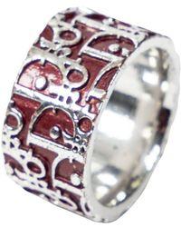 Dior Bague Trotteur Oblique - Rouge