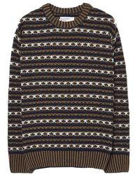 Universal Works Batton Stripe knitwear - Marron