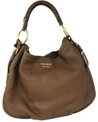 Prada Brown Deerskin Hobo Bag - Bruin
