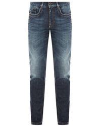 Bikkembergs Jeans With Side Stripes - Blauw