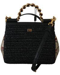 Dolce & Gabbana Satchel Sicily Bag - Zwart
