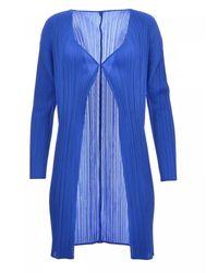 Issey Miyake Maglia Pleats Please Pp16Ja906 - Bleu