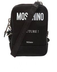 Moschino Logo-printed Shoulder Bag - Zwart