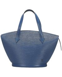 Louis Vuitton Epi Saint Jacques PM cinturino corto in pelle - Blu