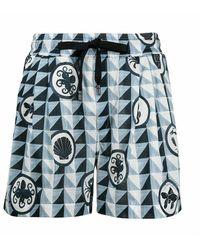 Dolce & Gabbana Short Met Patroon - Blauw