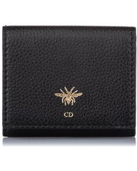 Dior D-bee French Leather Wallet - Zwart