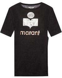 Étoile Isabel Marant T-shirt With A Slit - Zwart