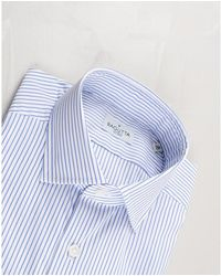 Bagutta Bacchettato stretto Shirt Azul