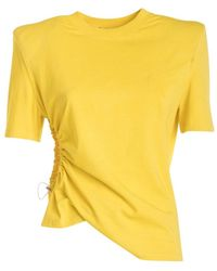 Amen T-shirt with shoulder pads - Jaune