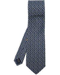 Ferragamo Cravate en soie - Bleu