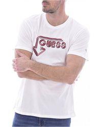 Guess - Tee Shirt Stretch À Logo 3d - Lyst