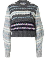 Off-White c/o Virgil Abloh Alpaca Sweater - Grijs