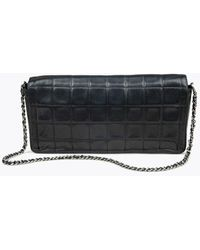 Chanel Pre-owned Chocolate Bar East/West Flap Bag - Noir