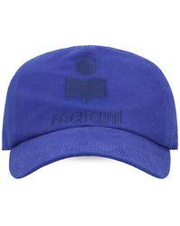 Isabel Marant Baseball Cap With Logo - Blauw