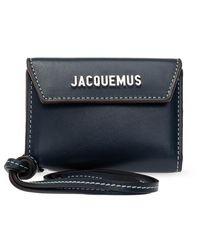 Jacquemus Le Porte Wallet With Strap - Blauw