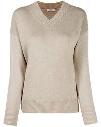 Peserico Cashmere v-neck sweater - Neutre