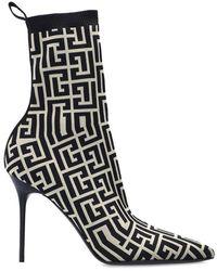 Balmain Stiletto pumps with sock - Neutro