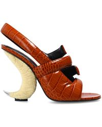 Givenchy Sandals With Decorative Heel - Bruin