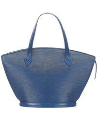 Louis Vuitton Epi Saint Jacques PM Bracelet Court Cuir - Bleu