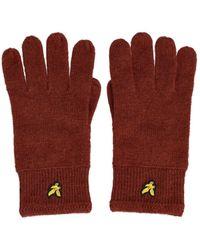 Lyle & Scott Racked Gloves - Rood