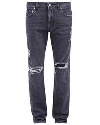 Dolce & Gabbana Vernietigde Slim Fit Jeans - Grijs