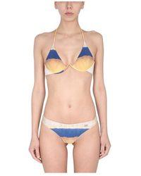 Alberta Ferretti Bikini Swimsuit With TIE DYE Print - Giallo