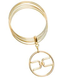 Elisabetta Franchi - Bangle Con Logo Light Gold Bc2mc11e2 - Lyst