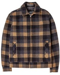 SELECTED Lincoln Wool J Check - Oranje