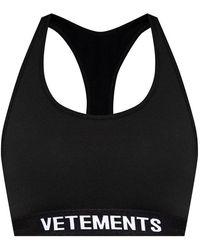 Vetements Cropped Training Top - Zwart