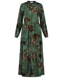 POM Amsterdam Sp6692 Urban Jungle Dress - Groen