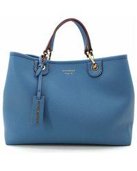 Emporio Armani Shopper Myea Bag - Y3d165yfo5b - Blauw