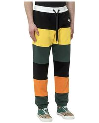 Burberry Sweatpants With Panels - Geel