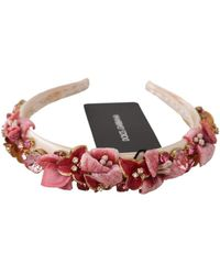 Dolce & Gabbana Diadem Tiara Hoofdband - Roze